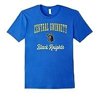 Central Gwinnett High School Black Knights Shirts Royal Blue