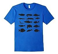 Fishing Lover Fish Vintage Sport Fisherman Angler Shirts Royal Blue