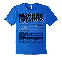 Mashed Potato Nutrition Funny Matching Christmas Costume Shirts Royal Blue