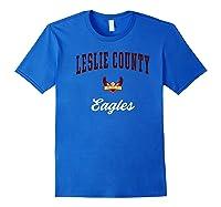 Leslie County High School Eagles Shirts Royal Blue