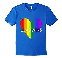 Gay Pride Lesbian Bisexual Transgender Shirts Royal Blue