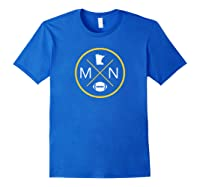 Minnesota Football Mn State Map Outline Shirts Royal Blue