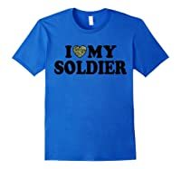 Love My Soldier Army Multicam Camo Camouflage Heart Shirts Royal Blue