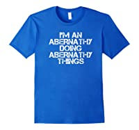 Abernathy Funny Surname Family Tree Birthday Reunion Gift Premium T-shirt Royal Blue