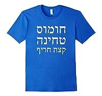 Falafel In Pita Hummus Tehina And Some Hot Pepper Israeli Shirts Royal Blue