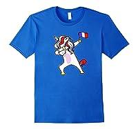 Soccer Unicorn France Design French Football Gift Premium T-shirt Royal Blue