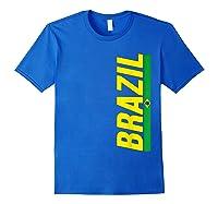 Brazil T-shirt Brazilian Flag Brasil Gift Souvenir Camiseta Royal Blue