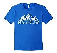 Park City Utah Mountain Souvenir Gift   Cool Park City Utah T-shirt Royal Blue
