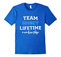 S Team Quincy Groom Squad Custom Bachelor Party Wedding T-shirt Royal Blue