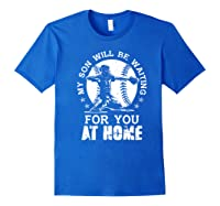 Baseball Mom Apparel Baseball Dad Merchandise Premium T-shirt Royal Blue