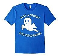 Not A Ghost Just Dead Inside T-shirt Royal Blue