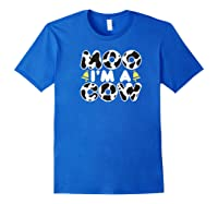 Moo I'm A Cow With Bell Funny Animal Halloween Costume Humor Shirts Royal Blue