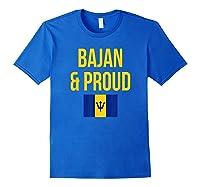 Bajan Proud Barbados Flag Caribbean Shirts Royal Blue