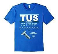 Tucson International Airport Arizona Tus T-shirt Royal Blue