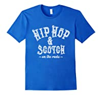 Hip Hop Scotch Whiskey Dance Music Shirts Royal Blue