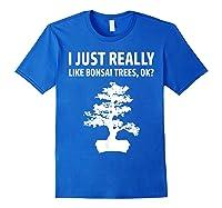 Like Bonsai Trees Anime Japanese Culture Zen Gift Shirts Royal Blue