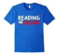 Book Reading Bookworm Librarian Library T-shirt Royal Blue