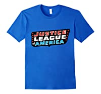 Justice League Logo Jla Classic 01 Shirts Royal Blue