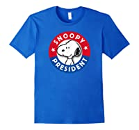Peanuts Snoopy For President Shirts Royal Blue