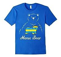 Down Syndrome Mom Awareness Trisomy 21 Gold Blue Ribbon Gift T-shirt Royal Blue