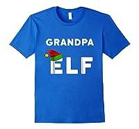 Matching Christmas Elf Grandpa Elf Shirts Royal Blue