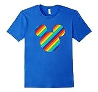 Mickey Mouse Rainbow Icon Shirts Royal Blue