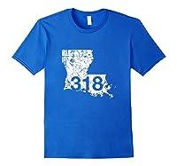 Shreveport Ruston Tallulah Area Code 318, Louisiana Shirts Royal Blue
