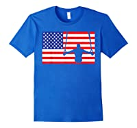 Gymnastics Rings Usa American Flag Gymnast 4th Of July T-shirt Royal Blue