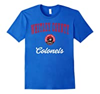 Whitley County High School Colonels Shirts Royal Blue