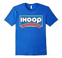 Ihoop Fun Basketball Shirt - Games Over Easy Graphic T-shirt Royal Blue