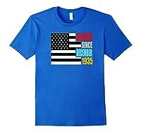 Awesome Since December 1935 Birthday Gift Usa Flag Retro Shirts Royal Blue