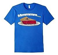 Mmm Pi (pie) Funny Pi Math Pun Pie Lovers T-shirt Royal Blue