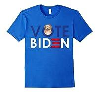 My Shih Tzu Want Vote For Joe Biden Funny President Shirts Royal Blue