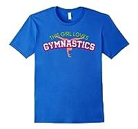 Gymnastics Girl Shirts Royal Blue