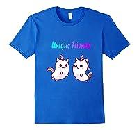 Caticorn Friends Unicorn Cat Rainbow Shirts Royal Blue