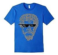 Marcus Aurelius Sunglasses T-shirt Funny Stoic Royal Blue