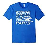 Rc Plane T-shirt For Guys Rc Planes And Scattered Parts Royal Blue