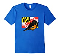 State Birdorable Of Maryland Cute Baltimore Oriole Shirts Royal Blue