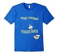 Magnet Fisherman Fishing Treasure Chest Hunting Wave Gift T-shirt Royal Blue