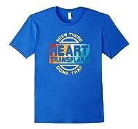 Heart Transplant Organ Recipient Survivor Gift Shirts Royal Blue