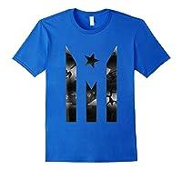 Puerto Rico Resiste Black Flag Camo Shirts Royal Blue