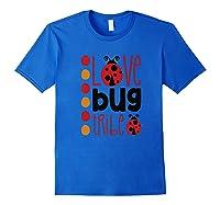 Love Bug Tribe Red Lady Bug Girls Squad Shirts Royal Blue