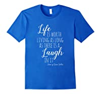Anne With An E T-shirt, Anne Of Green Gables Quote Shirt T-shirt Royal Blue