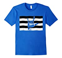 Straight Pride Flag And Love Sign Inside, Heterosexuals Gift Shirts Royal Blue