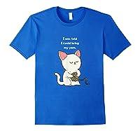 Funny Knitting Funny Knitting Gift Shirts Royal Blue