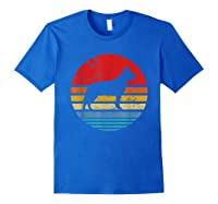Cattle Dog Retro Sunset Distressed Mom Dad Dog Lover Gift Shirts Royal Blue