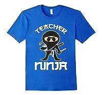 Ninja Tea Cool Art Teaching Lover Gift Shirts Royal Blue