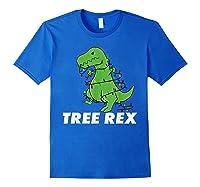 Tree Rex Christmas T Rex Dinosaur Christmas Gift Shirts Royal Blue
