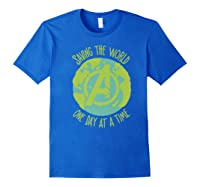 Earth Day Saving The World One Day At A Time Shirts Royal Blue