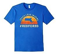 Teach Love Inspire Red For Ed Massachusetts Tea Shirts Royal Blue